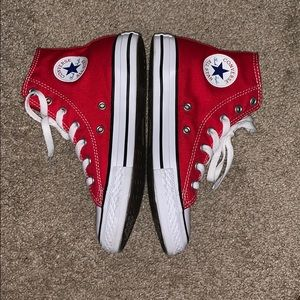 Red High-top Converse